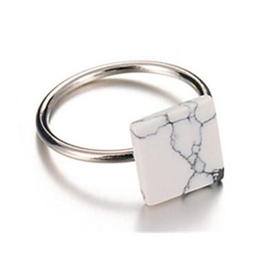 Kadın Yüzük minimalist tarzı alaşım Square Shape Geometric Shape Mücevher Uyumluluk Parti