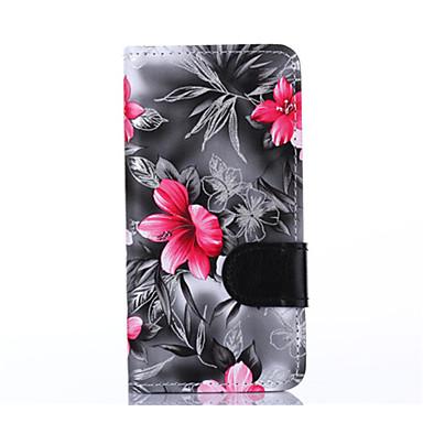 Samsung galaxy grand g530h g850f için kılıf çiçek pu deri cep telefonu kılıfı