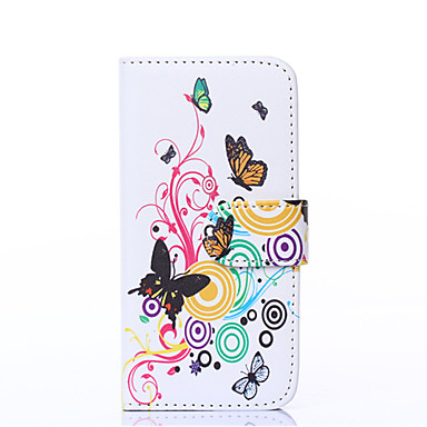 Pouzdro Uyumluluk Apple iPhone 6 iPhone 6 Plus Kart Tutucu Cüzdan Satandlı Flip Tam Kaplama Kılıf Kelebek Sert PU Deri için iPhone 6s