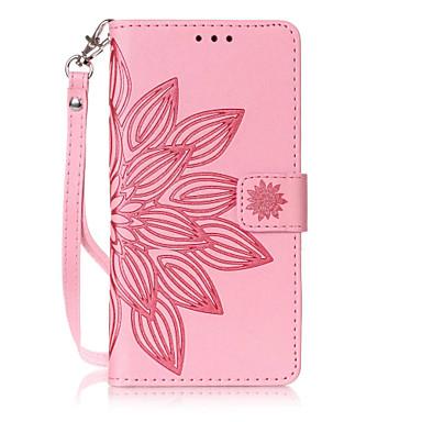 غطاء من أجل هواوي P9 لايت Huawei هواوي P8 لايت حامل البطاقات محفظة مع حامل قلب نموذج مطرز غطاء كامل للجسم زهور قاسي جلد PU إلى Huawei P9