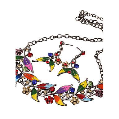 Damskie Zestawy biżuterii Luksusowy Ślub Impreza Codzienny Casual Imitacja diamentu 1 Naszyjnik 1 parę kolczyków