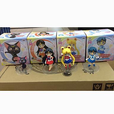 Anime Φιγούρες Εμπνευσμένη από Sailor Moon Sailor Moon PVC 7 CM μοντέλο Παιχνίδια κούκλα παιχνιδιών