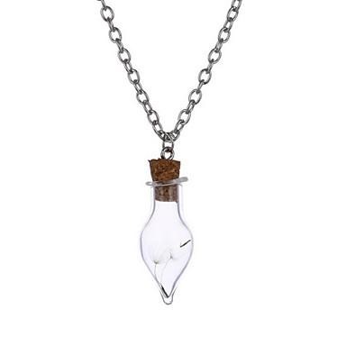 Kadın Uçlu Kolyeler Mücevher Çiçek alaşım Çiçek Elyapımı Mücevher Uyumluluk Günlük