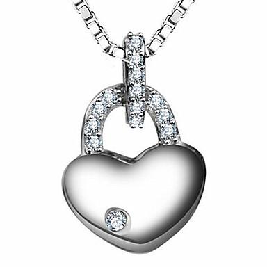 Γυναικεία Κρεμαστά Κολιέ Κοσμήματα Ασήμι Στερλίνας Βασικό Ασημί Κοσμήματα Για Causal 1pc