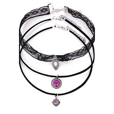 fec9bf2618382 cheap Necklaces-Women's Choker Necklace Pendant Necklace Tattoo Choker  Lace Statement
