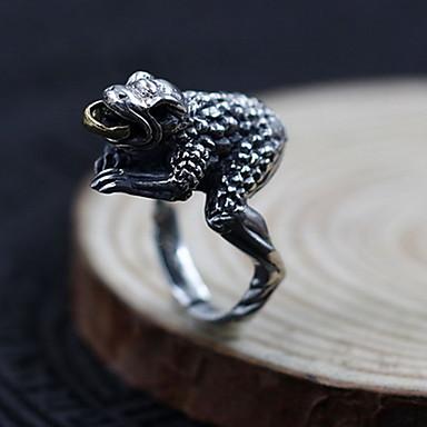 Erkek Kadın Yüzük Mücevher Kişiselleştirilmiş Ayarlanabilir Açık Som Gümüş Mücevher Uyumluluk Günlük