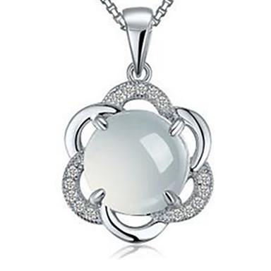 Kadın Uçlu Kolyeler Som Gümüş Basic Tasarım Mücevher Uyumluluk Günlük