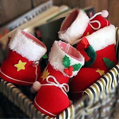 2db karácsonyi díszek cukorka csizma 9 * 6 * 10 cm