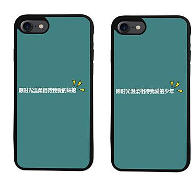 إلى نموذج غطاء غطاء خلفي غطاء جملة / كلمة ناعم TPU إلى Apple فون 7 زائد فون 7 iPhone 6s Plus/6 Plus iPhone 6s/6