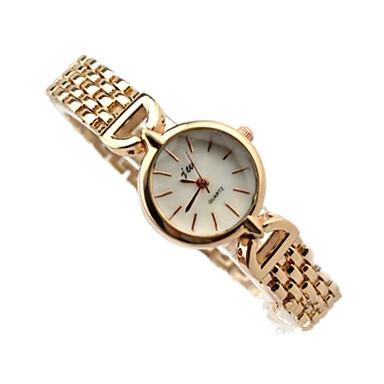 Kadın's Moda Saat Bilezik Saat Quartz Alaşım Bant Günlük Gümüş Altın Rengi