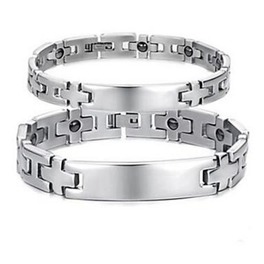 Çiftlerin Zincir & Halka Bileklikler Çelik Cross Shape Mücevher Mücevher Uyumluluk Günlük