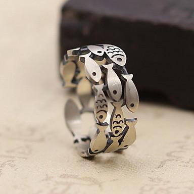Męskie Damskie Pierscionek Biżuteria Spersonalizowane Srebro standardowe Biżuteria Na Codzienny Casual