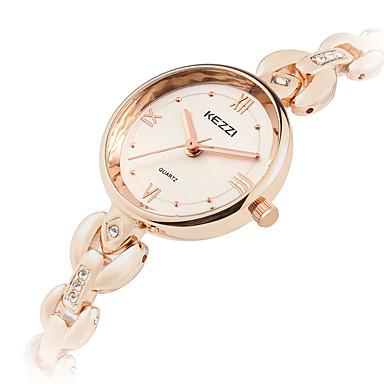 KEZZI Bayanların Moda Saat Bilek Saati Quartz Alaşım Bant Havalı Günlük Gümüş Gül Altın Gümüş Gül Altın