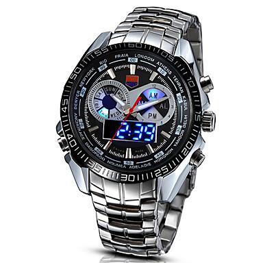 Ανδρικά Ψηφιακό Ψηφιακό ρολόι Ρολόι Καρπού Στρατιωτικό Ρολόι Αθλητικό Ρολόι LED κράμα Μπάντα Βίντατζ Καθημερινό Ρολόι Φορέματος Μοντέρνα