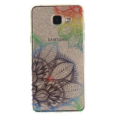 Недорогие Чехлы и кейсы для Galaxy A5-Кейс для Назначение SSamsung Galaxy A5(2016) / A3(2016) / A5 IMD / Прозрачный / С узором Кейс на заднюю панель Цветы Мягкий ТПУ