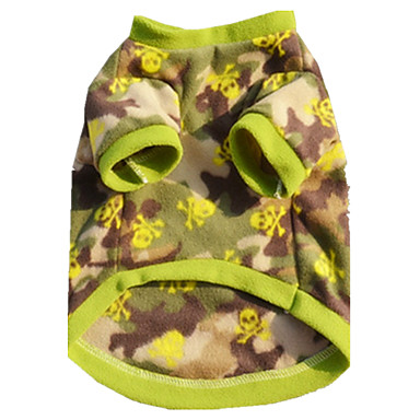 كلب سترة ملابس الكلاب كاجوال/يومي بريطاني تمويه اللون