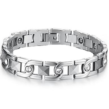 Ανδρικά Γυναικεία Βραχιόλια με Αλυσίδα & Κούμπωμα κοσμήματα πολυτελείας Ατσάλι Προσομειωμένο διαμάντι Geometric Shape Κοσμήματα Για Causal