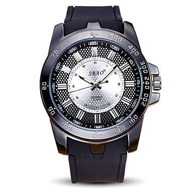 Męskie Sportowy Zegarek na nadgarstek Kwarcowy / Silikon Pasmo Nowoczesne Na co dzień Czarny White Black Czerwony Niebieski
