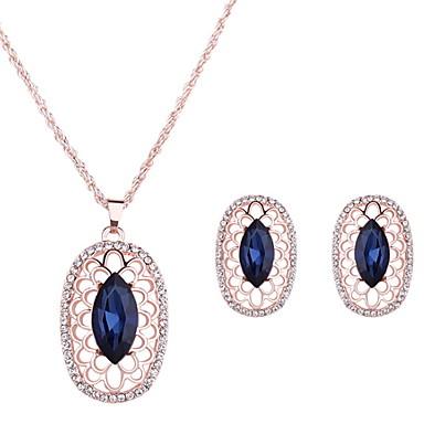 Damskie Zestawy biżuterii Kryształ Ślub Impreza Codzienny Casual Stop 1 parę kolczyków Naszyjniki