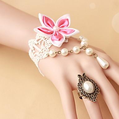 Γυναικεία Δαχτυλίδια με Βραχιόλι Γκόθικ Δαντέλα Λουλούδι Κοσμήματα Halloween