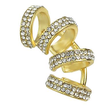Κλιπ Γραβάτας Κοσμήματα Γυναικεία Causal Κράμα 1 ζευγάρι Χρυσαφί Ασημί