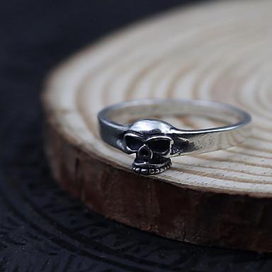 Ανδρικά Γυναικεία Δαχτυλίδι Κοσμήματα μινιμαλιστικό στυλ Ασήμι Στερλίνας Skull shape Κοσμήματα Για Καθημερινά Causal