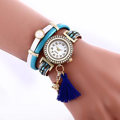 Damskie Zegarek na bransoletce Modny Kwarcowy sztuczna Diament Skóra Pasmo Czarny Niebieski Czerwony Zielnony