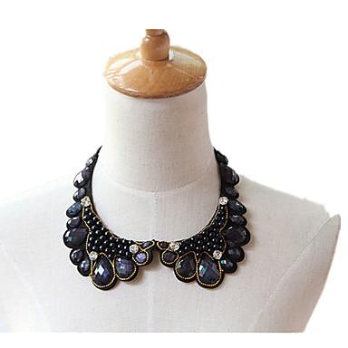 Damskie Kołnierz Kamień szlachetny Perłowy Koronka Klasyczny Modny Biżuteria Na Urodziny Codzienny