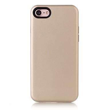 غطاء من أجل Apple iPhone 7 iPhone 7 Plus iPhone 6 ضد الصدمات غطاء خلفي لون الصلبة قاسي جلد اصطناعي إلى فون 7 زائد فون 7 iPhone 6s Plus