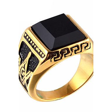 للرجال يماني عقيق خاتم / خاتم البيان - موضة ذهبي حلقة من أجل يوميا / فضفاض