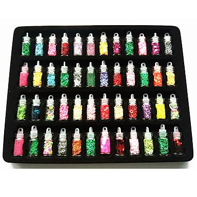 48pcs/set Nail Art Διακόσμηση rhinestone Μαργαριτάρια μακιγιάζ Καλλυντικά Σχεδιασμός νυχιών Τέχνης