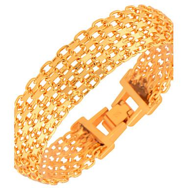 Męskie Damskie Bransoletki i łańcuszki na rękę Pozłacane Modny Biżuteria Gold Biżuteria 1szt