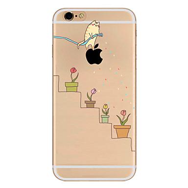 Varten Ultraohut Kuvio Etui Takakuori Etui Leikki Apple-logon kanssa Pehmeä TPU varten AppleiPhone 7 Plus iPhone 7 iPhone 6s Plus/6 Plus