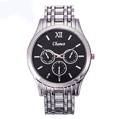 Heren Dress horloge Kwarts Roestvrij staal Band Zilver Wit Zwart