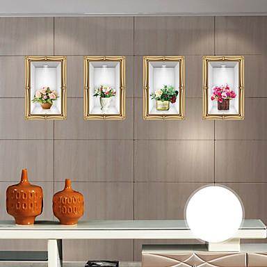 Moda Çiçekler 3D Duvar Etiketler Uçak Duvar Çıkartmaları 3D Duvar Çıkartması Dekoratif Duvar Çıkartmaları, Kağıt Ev dekorasyonu Duvar