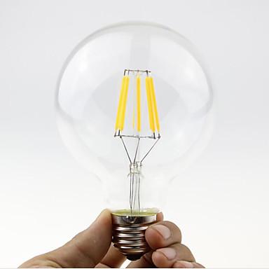 1pc 5.5W 600 lm B22 E26/E27 LED Filaman Ampuller G95 6 led COB Kısılabilir Sıcak Beyaz 2700-3500 K AC 220-240 AC 110-130 V