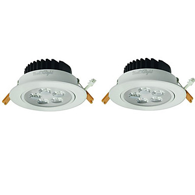 youoklight 2buc 5w 5xleds 3000K 450lm cald lampă de tavan alb (100-240V ac)