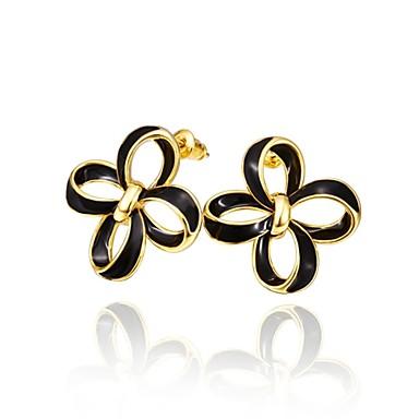 Niittikorvakorut Hopeoitu Gold Plated Ruusukulta-päällystetty Metalliseos Kulta Hopea Ruusu Korut Varten Päivittäin Kausaliteetti 1 pari