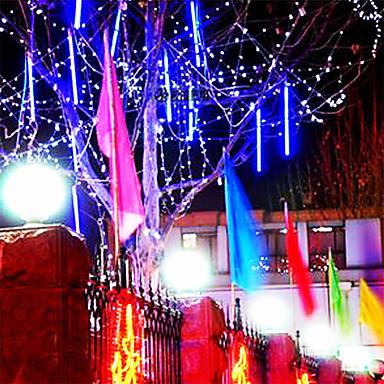 8pcs 30cm de tuburi de lumină cu led-uri meteor duș de ploaie tuburi a condus lumini pentru petrecere de nuntă sau de Crăciun