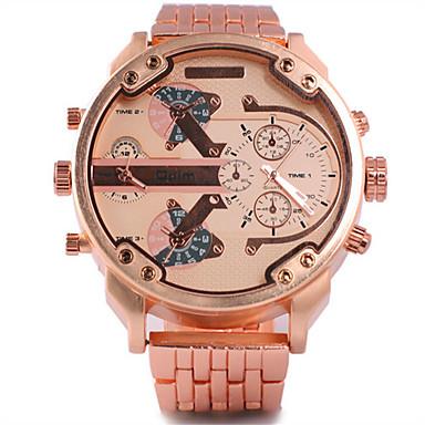 Bărbați Ceas Sport Ceas Militar Ceas La Modă Ceas de Mână Quartz Calendar Zone Duale de Timp Aliaj Bandă Vintage Casual Multicolor