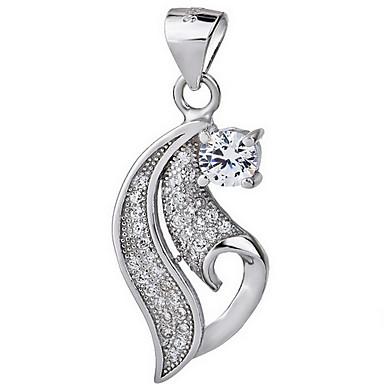 Kadın Uçlu Kolyeler Mücevher Tek Dizi Mücevher Som Gümüş Basic Tasarım Eski Tip lüks mücevher Beyaz Mücevher Için Parti Doğumgünü Günlük