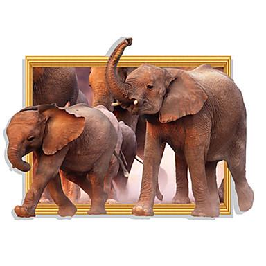 حيوانات أزياء 3D ملصقات الحائط لواصق حائط الطائرة لواصق لواصق حائط مزخرفة, ورقة تصميم ديكور المنزل جدار مائي جدار