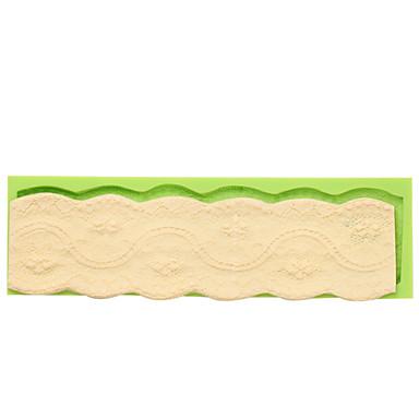 Τρόφιμα βαθμού μπαρόκ στυλ σιλικόνης συμπυκνωμένο μούχλα ευρύ κέικ σύνορα διακόσμηση καλούπια χρώμα τυχαία