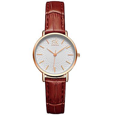 Pentru femei Ceas Elegant Ceas La Modă Quartz / PU Bandă Casual Negru Argint Maro Auriu