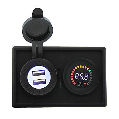 24v a condus display digital voltmetru și 4.2a adaptor USB cu panou suport pentru locuințe pentru camioane cu barca auto rv