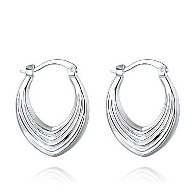 Kolczyki koła Biżuteria Miedź Posrebrzany Silver Biżuteria Na Codzienny Casual 1 para