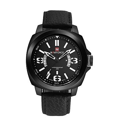 Bărbați Ceas Sport Ceas Militar Ceas La Modă Ceas de Mână Quartz Piele Autentică Bandă Vintage Casual Multicolor