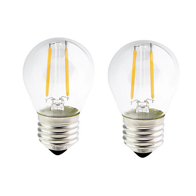 2pcs 2W 200 lm E26/E27 LED Λάμπες Πυράκτωσης G45 2 leds COB Με ροοστάτη Θερμό Λευκό 2700-3500K AC 220-240 AC 110-130V