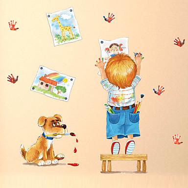Hayvanlar Moda Karton Duvar Etiketler Uçak Duvar Çıkartmaları Dekoratif Duvar Çıkartmaları, Kağıt Ev dekorasyonu Duvar Çıkartması Duvar
