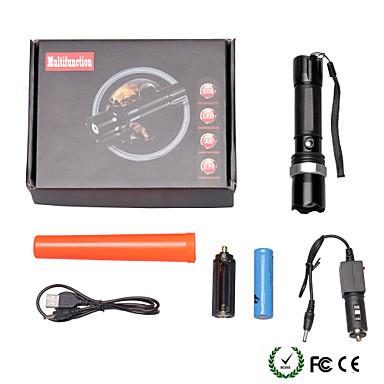 U'King Latarki LED LED 2000 lm 3 Tryb z baterią i ładowarką Zoomable Regulacja promienia Przysłonięcia Obóz/wycieczka/alpinizm jaskiniowy